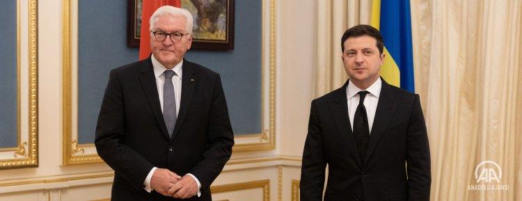 Ukrayna Devlet Başkanı Zelenskiy, Almanya Cumhurbaşkanı Steinmeier ile görüştü