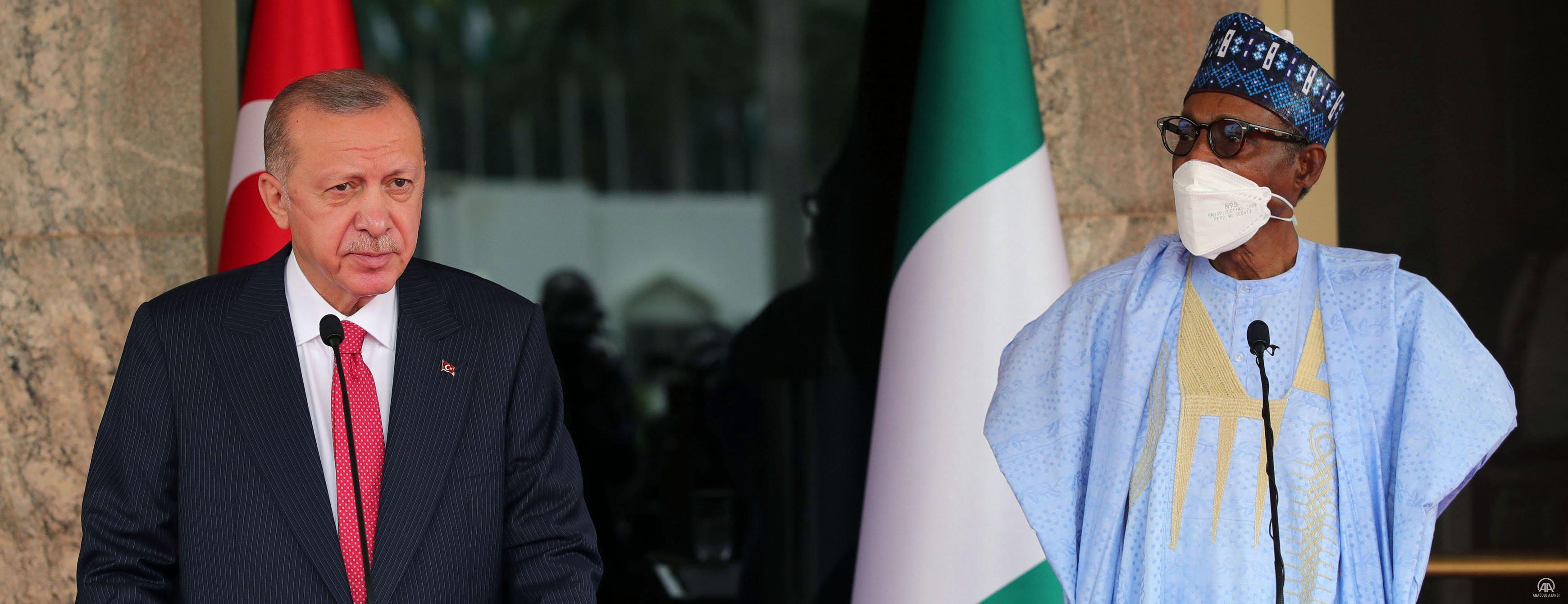 Cumhurbaşkanı Erdoğan, Nijerya Cumhurbaşkanı Buhari ile ortak basın toplantısında konuştu
