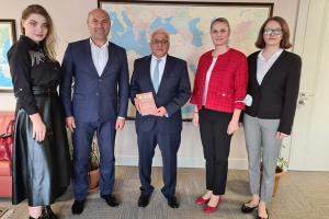 TİKA Başkan Yardımcısı Çevik Gagavuz temsilcilerini kabul etti