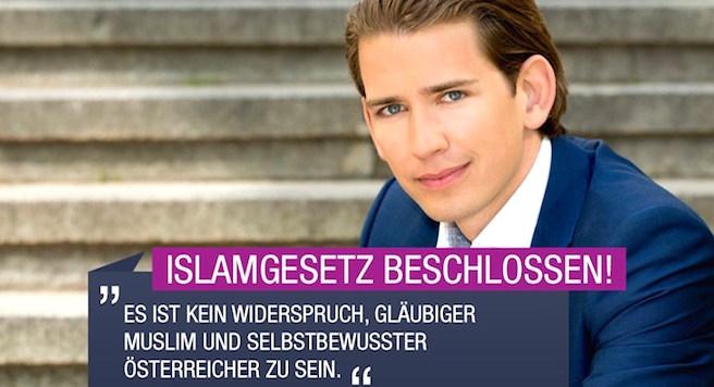 """Kurz: """"İslam, Avrupa'nın parçasıdır"""""""