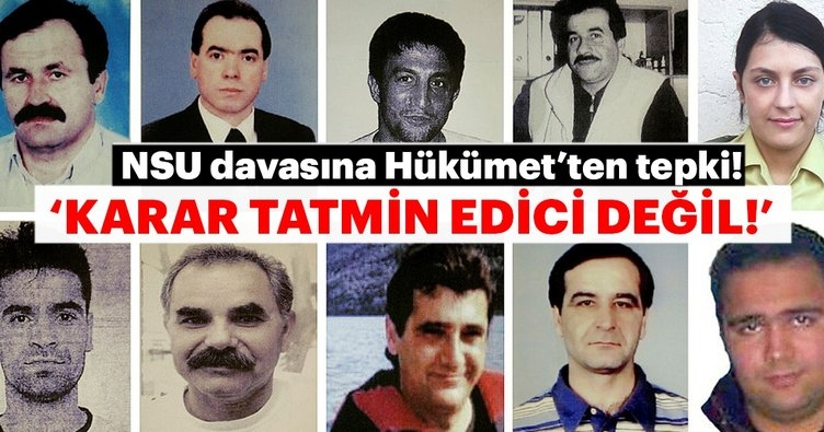 NSU Davasına Türkiye'den ilk tepki!